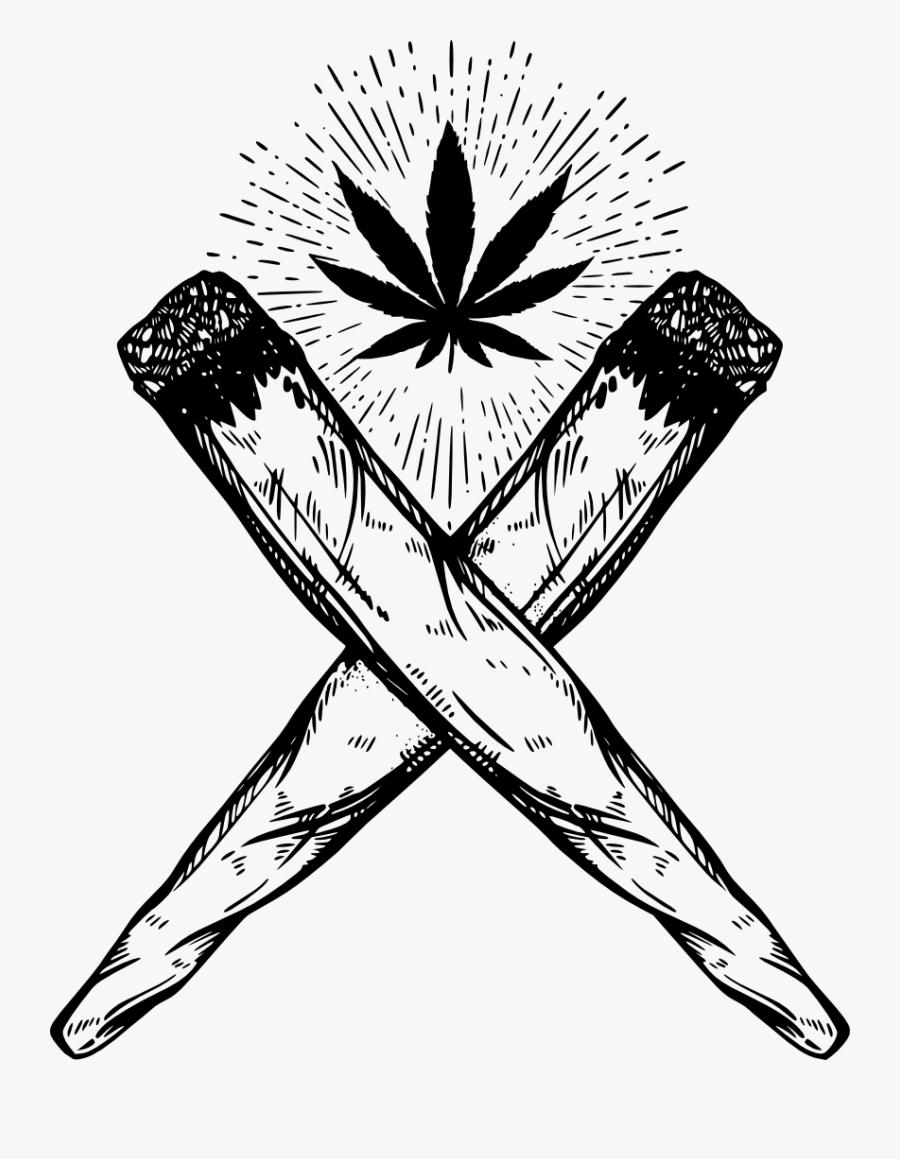 Joint Drawing Cannabis Smoking Drawing Cannabis Free