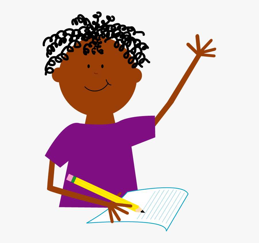Boy Writing Color Copy - Preschool, Transparent Clipart
