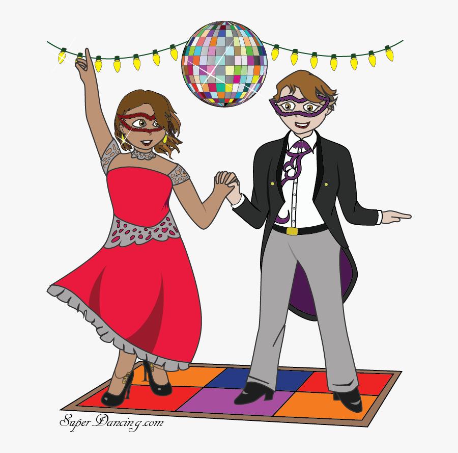 Superdancing We Teach Ballroom - Cartoon, Transparent Clipart