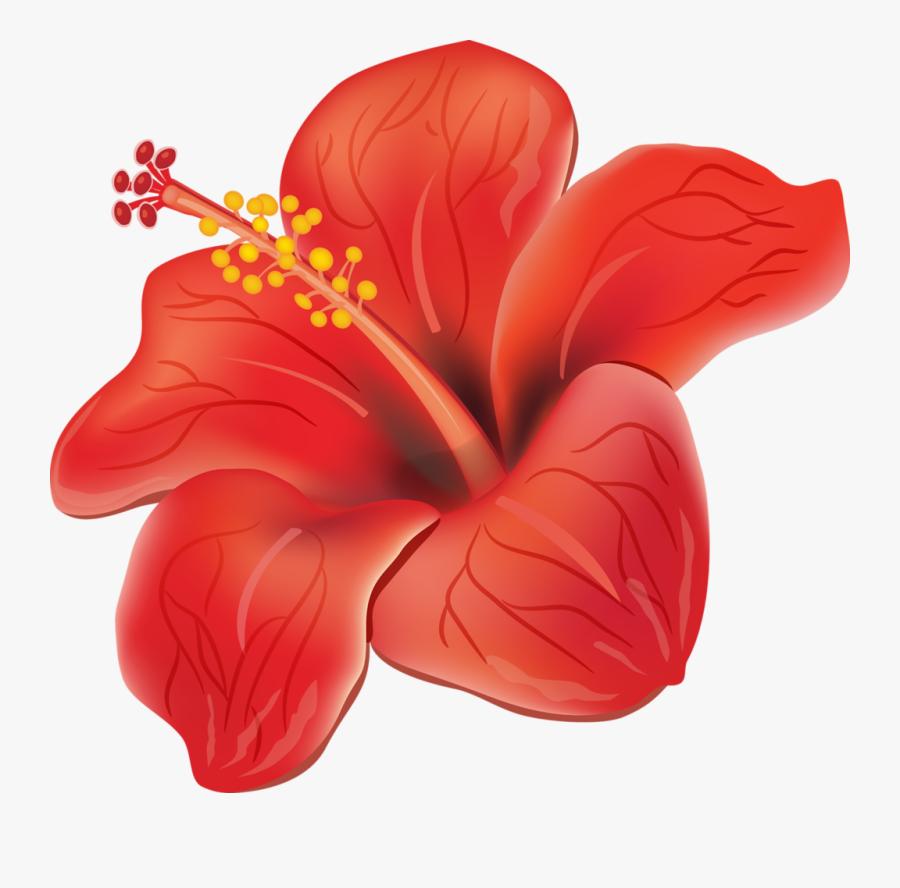Moana Clipart Orange Tropical Flower - Flores Tropicais Em Png, Transparent Clipart