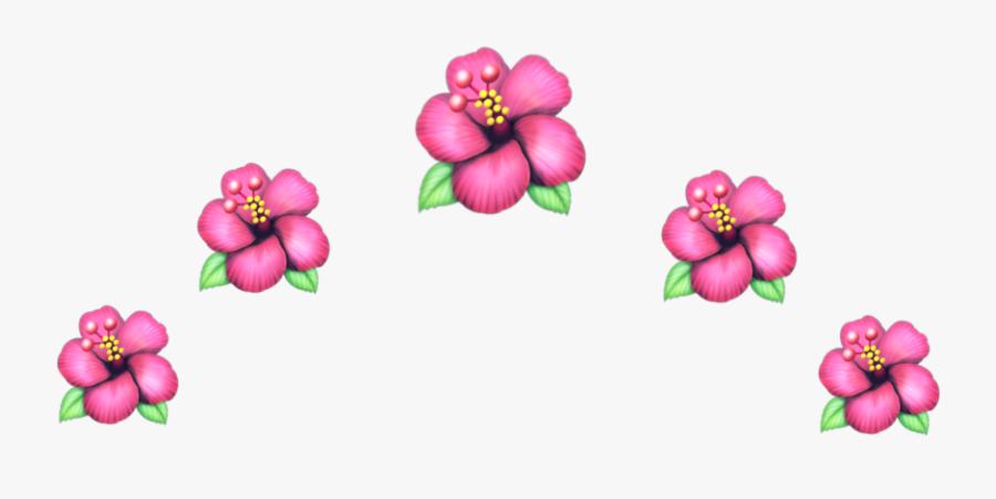 #flower #crown #crownflower #emojiflower #emoji #flowerpink - Flower Crown Headband Emoji, Transparent Clipart