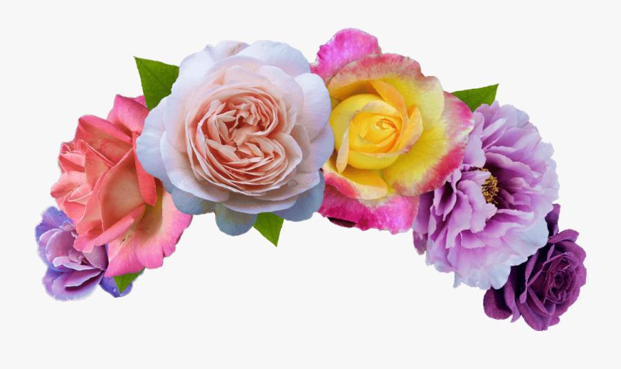 Transparent Flower Headband Clipart - Flower Crown Png, Transparent Clipart