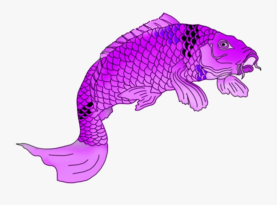Koi Fish Png - Fish Drawing Png, Transparent Clipart