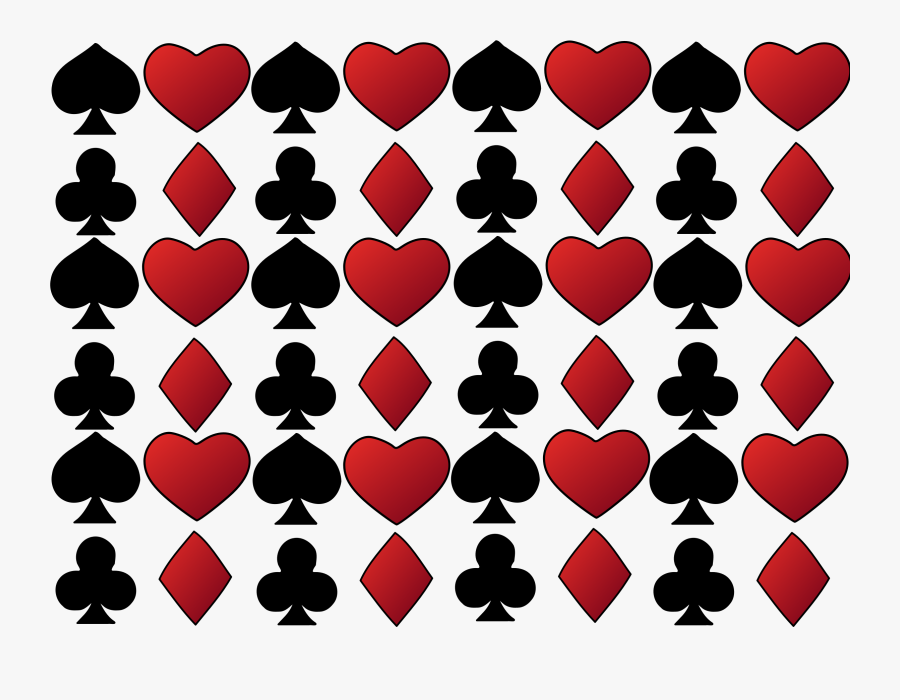 Of Cards Icons Png - Cards Suits Background Png, Transparent Clipart