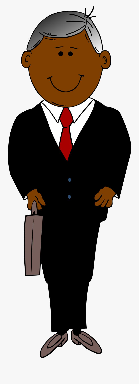 Clipart Man In Black Suit Clip Art Of Suit Clipart - Cartoon Man In Suit, Transparent Clipart