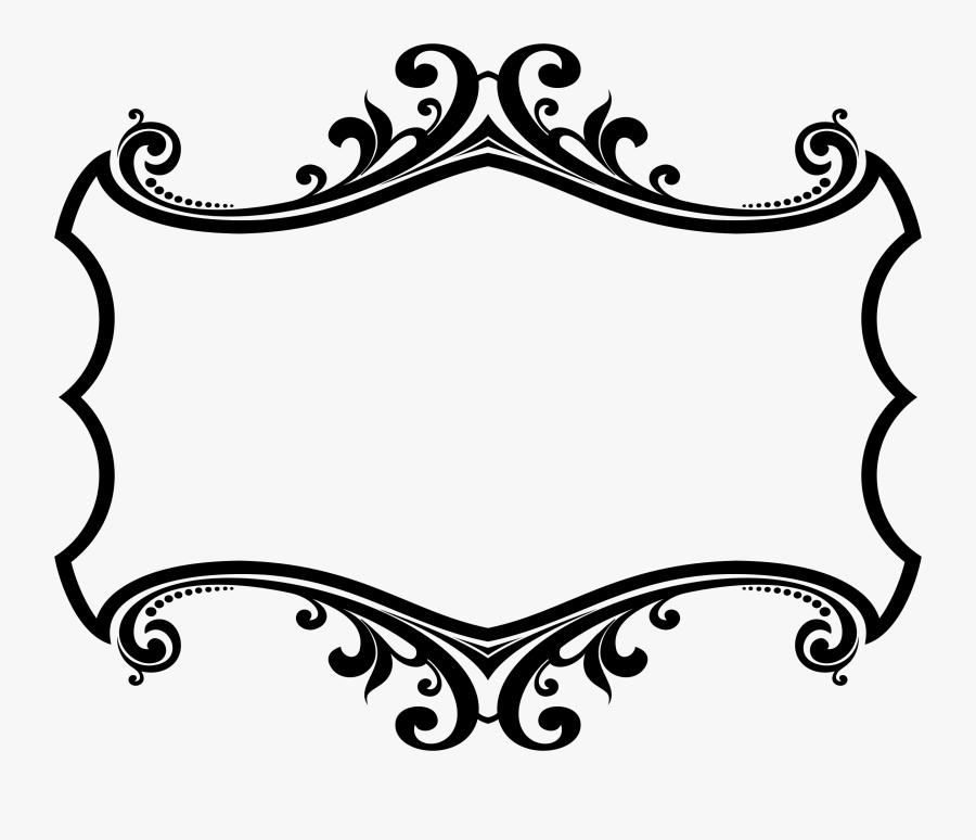 Plaque Clipart Outline - Border Design Black And White, Transparent Clipart