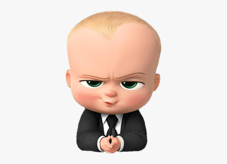 Boss Baby Angry Look - Baby Boss Clip Art, Transparent Clipart