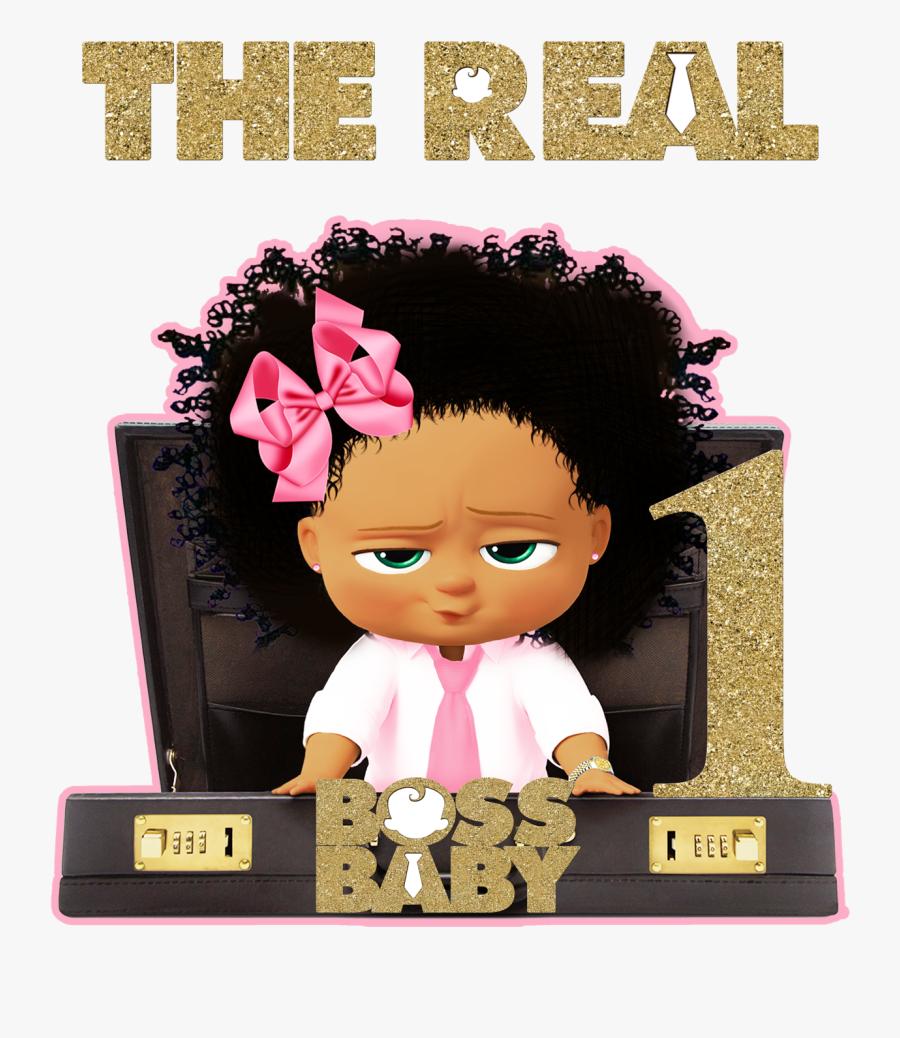 Custom Order-boss Baby Tutu Set - Boss Baby African American Girl, Transparent Clipart