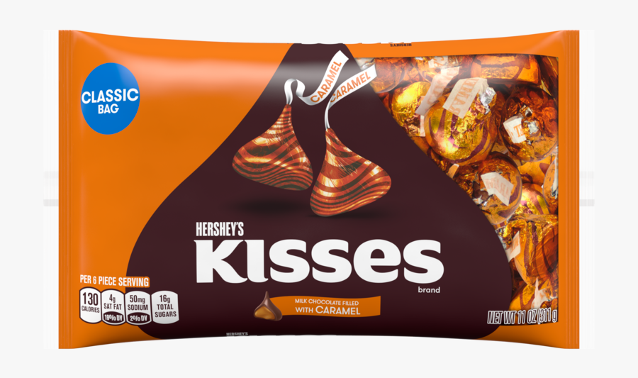 Hershey Kisses Png - Hershey's Kisses With Caramel, Transparent Clipart