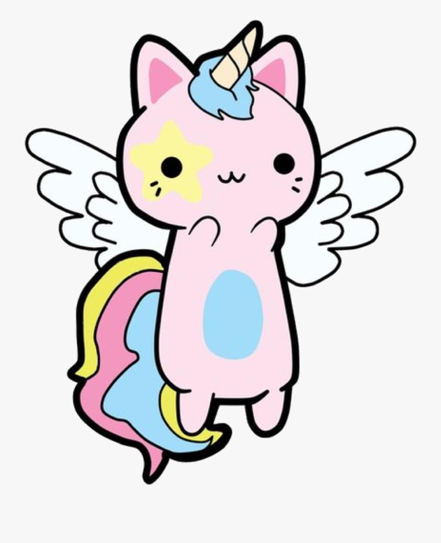 Transparent Kitty Cat Clipart - Unicorn Kawaii Cat, Transparent Clipart