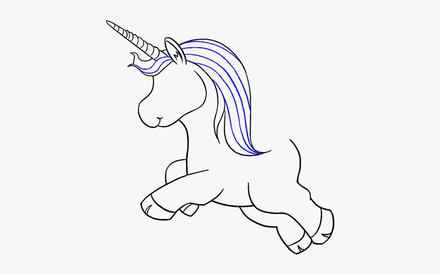 How To Draw Unicorn - Draw A Full Body Unicorn, Transparent Clipart