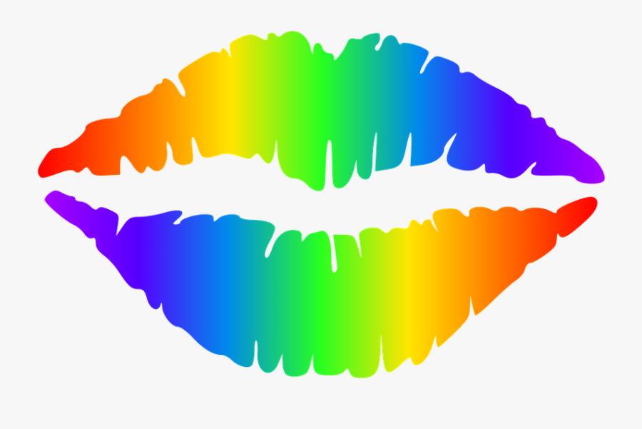 Lipstick Clipart Rainbow - Black Lips Transparent Background, Transparent Clipart