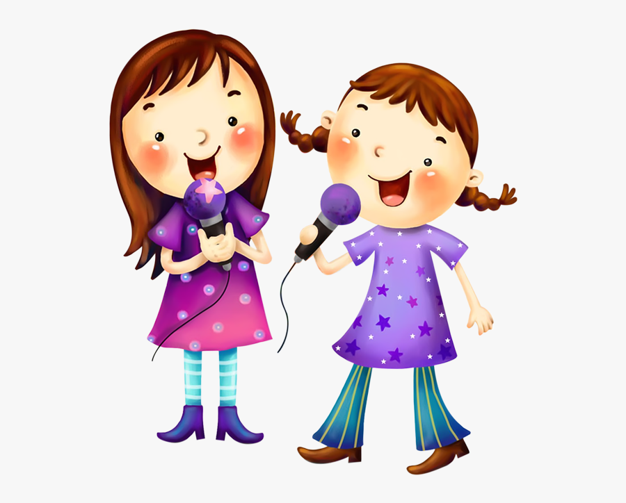 Cartoon Childrens Song Youtube Clip Art - Girl Singing Clipart, Transparent Clipart