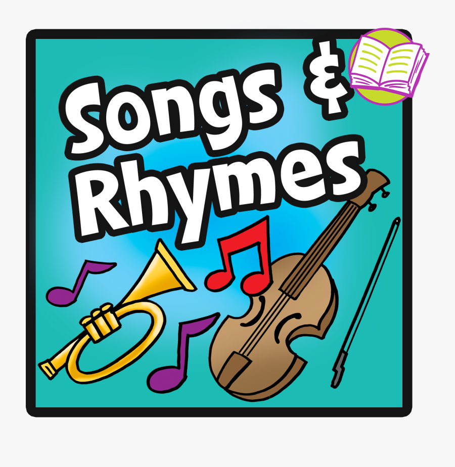 Song Clipart Teacher - Clipart Poems Rhymes Songs, Transparent Clipart