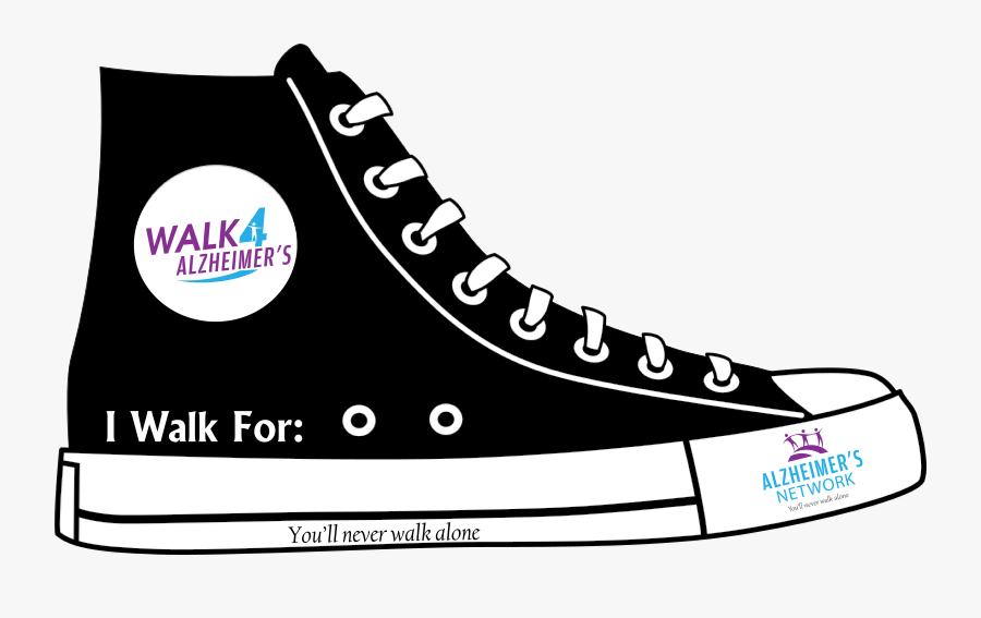 Cartoon Images Of Shoes - Black And White Converse Sticker, Transparent Clipart