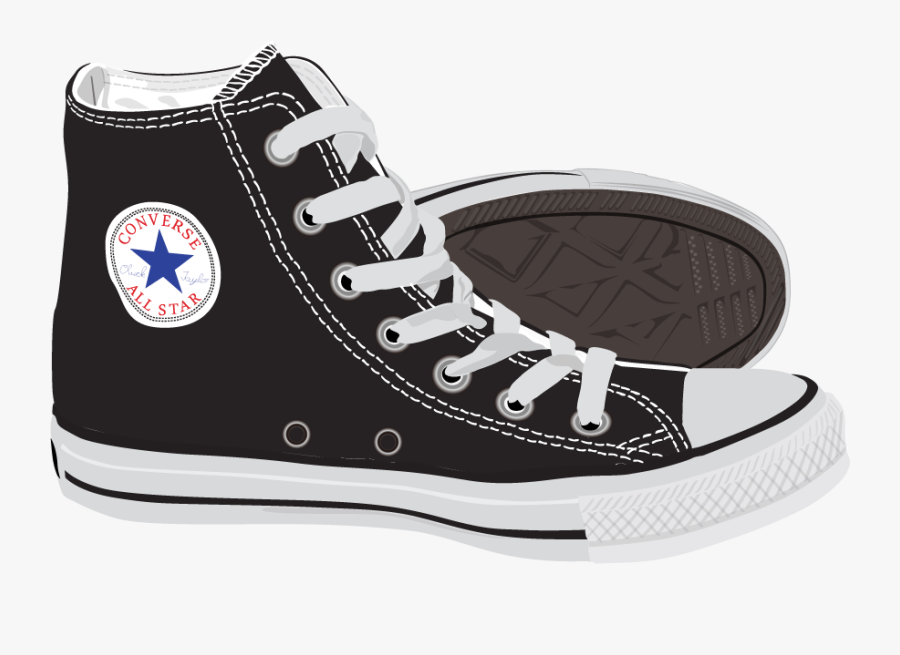 Fashion Shoes Ray Ban Polyvore Converse Painted Vector - Red All Stars Shoes, Transparent Clipart