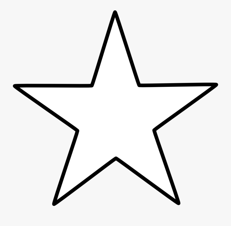 Star Clipart Epiphany - Star Shape Clipart Black And White, Transparent Clipart