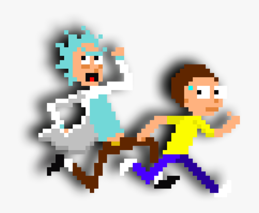 Rick And Morty Pixelart By Dondamino - Rick And Morty Pixelated, Transparent Clipart