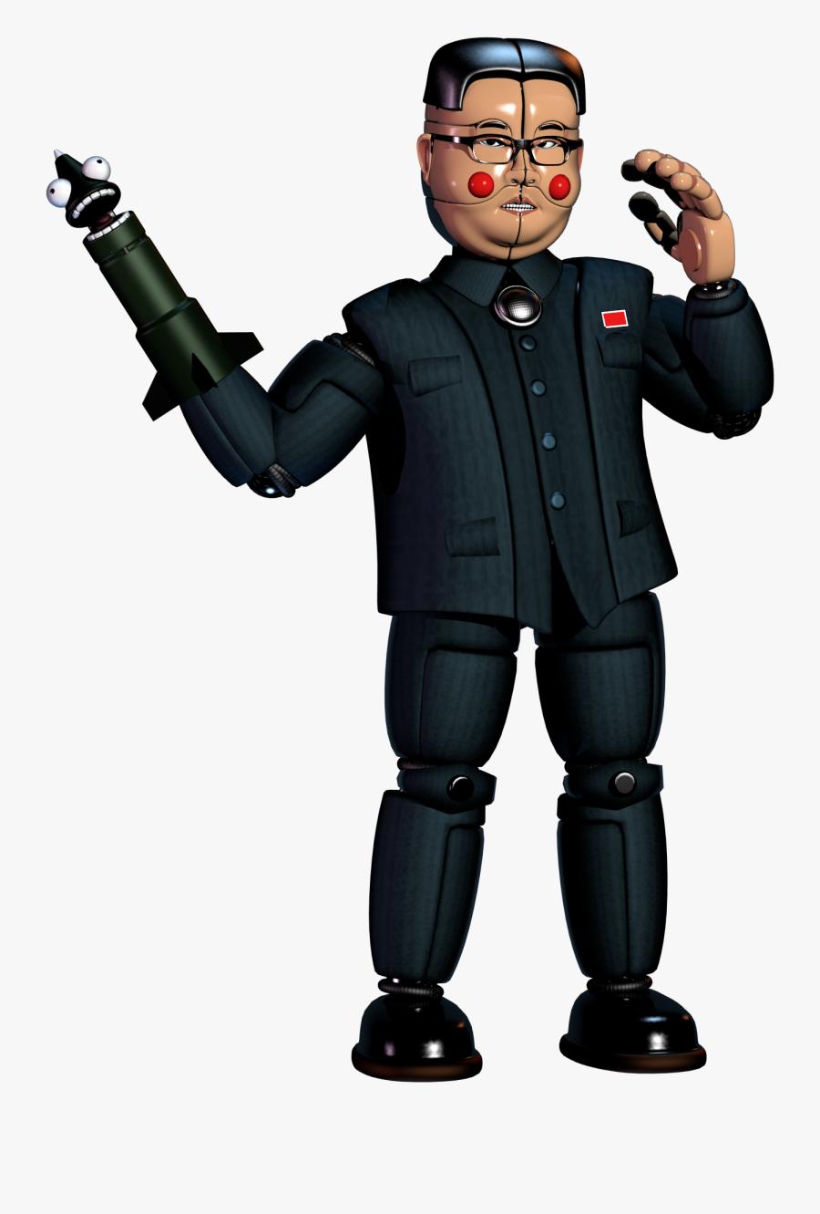 Clip Art Funtime And Nuke Model - Kim Jong Un Animatronic, Transparent Clipart
