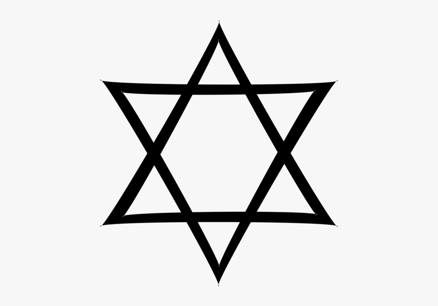 Line Art,triangle,symmetry - Star Of David With Circle, Transparent Clipart