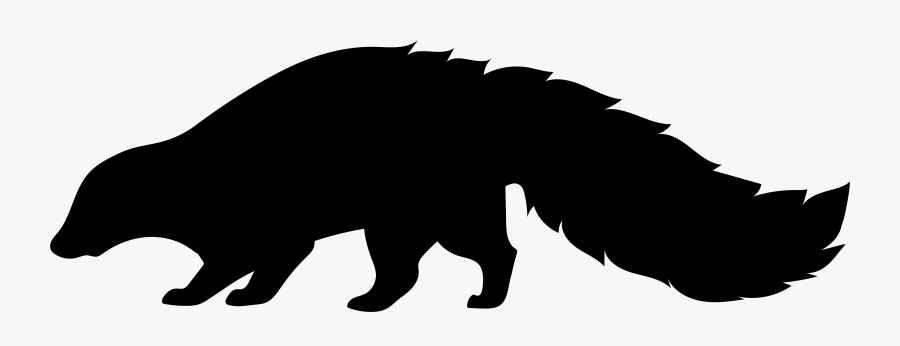 Clip Art,grizzly Animal,snout,animal Figure,graphics,wildlife - Skunk Silhouette Clip Art, Transparent Clipart