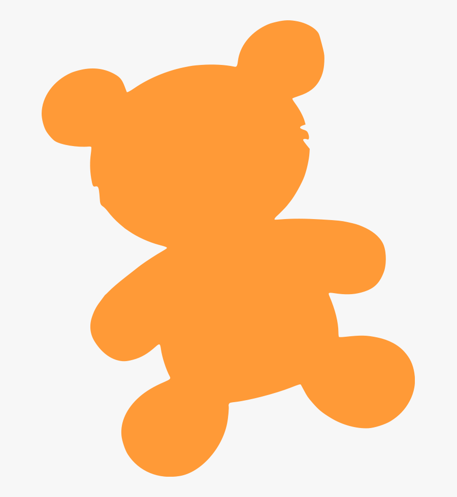Teddy Bear Silhouette Png, Transparent Clipart