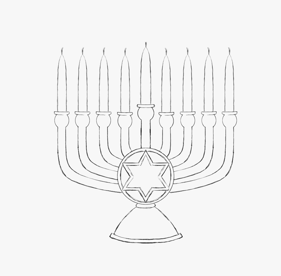Hanukkah Words and Pictures Colouring Page (teacher made) | 885x900