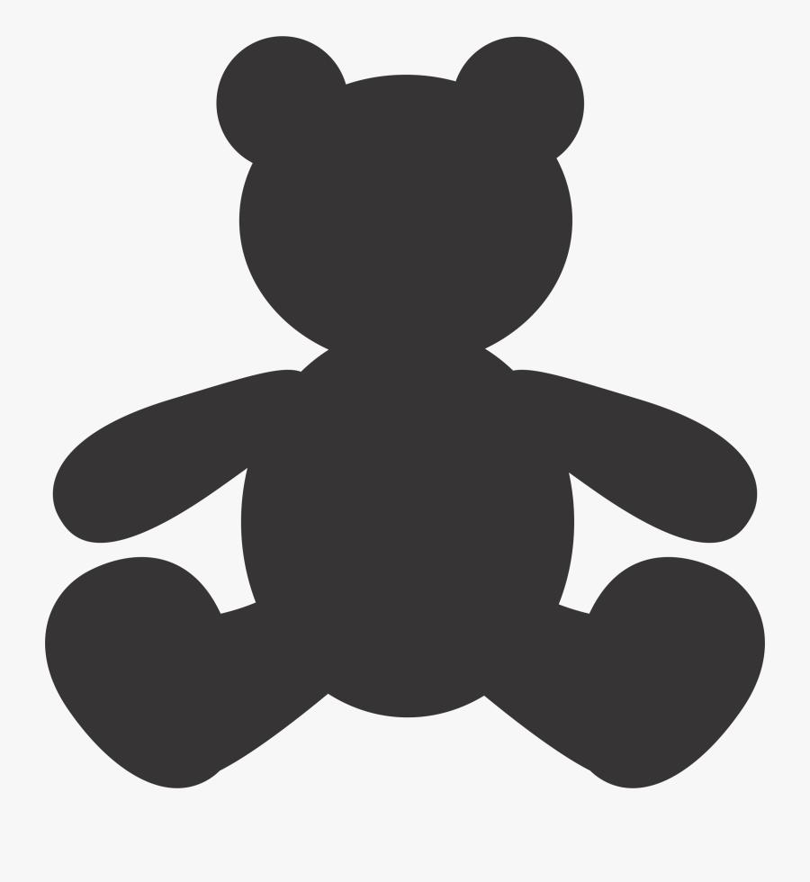 Teddy Bear Silhouette Vector - Vector Teddy Bear Silhouette, Transparent Clipart