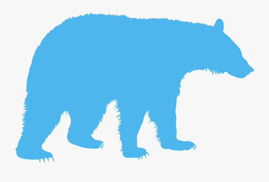 Silhouette Bears, Transparent Clipart
