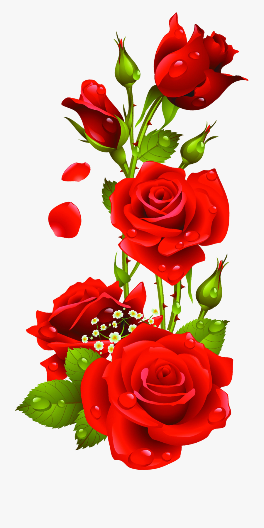 Transparent Beauty And The Beast Rose Clipart - Rose Flower Design Border Png, Transparent Clipart