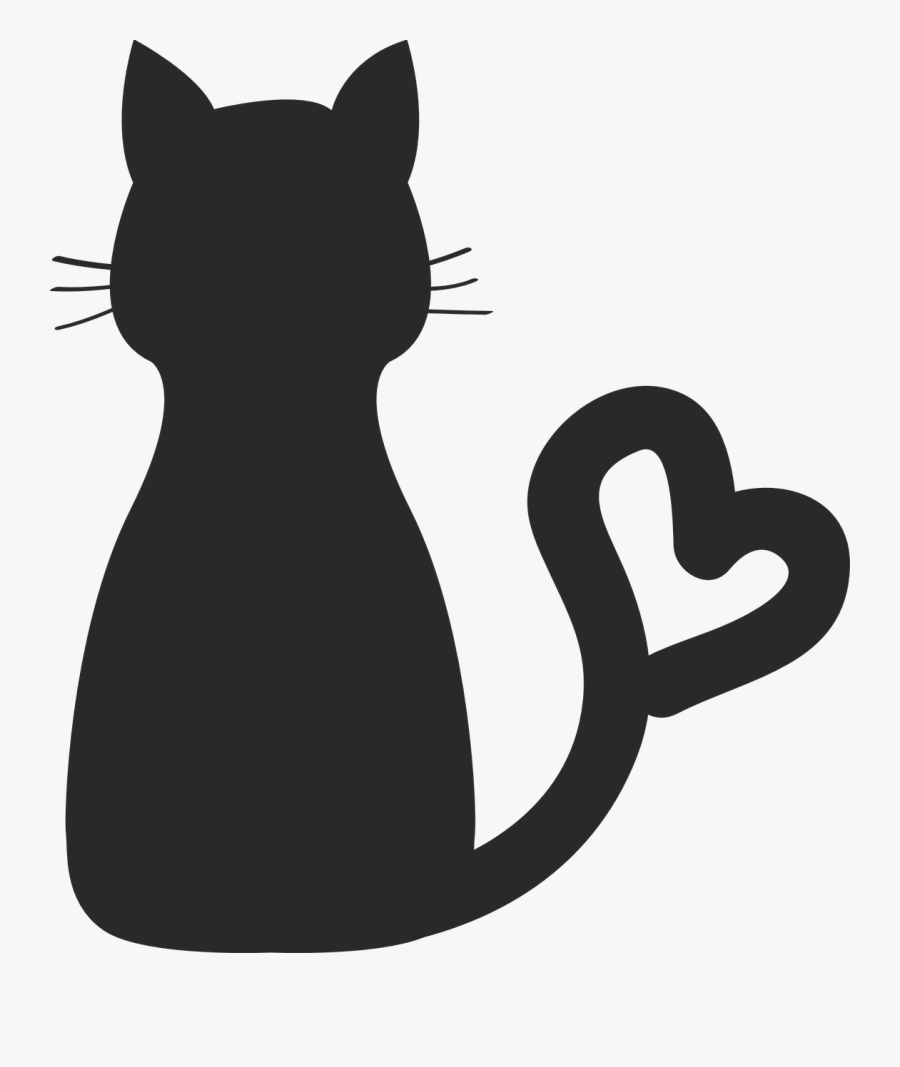 Sphynx Cat Kitten Silhouette Drawing Clip Art - Cat Clipart Black, Transparent Clipart