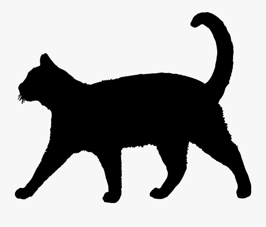 Transparent Cat Silhouette Clipart - Cat Silhouette, Transparent Clipart