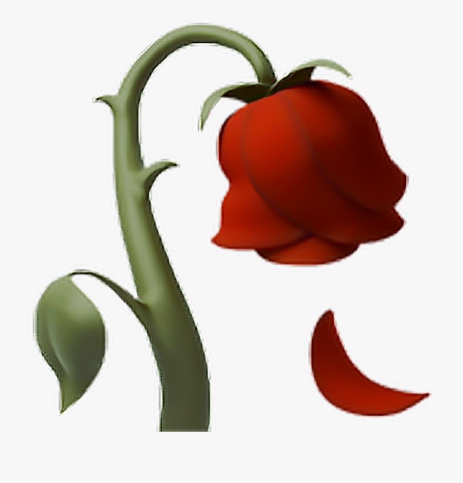 Rose Deadrose Flower Emoji Iphone - Iphone Dead Rose Emoji, Transparent Clipart