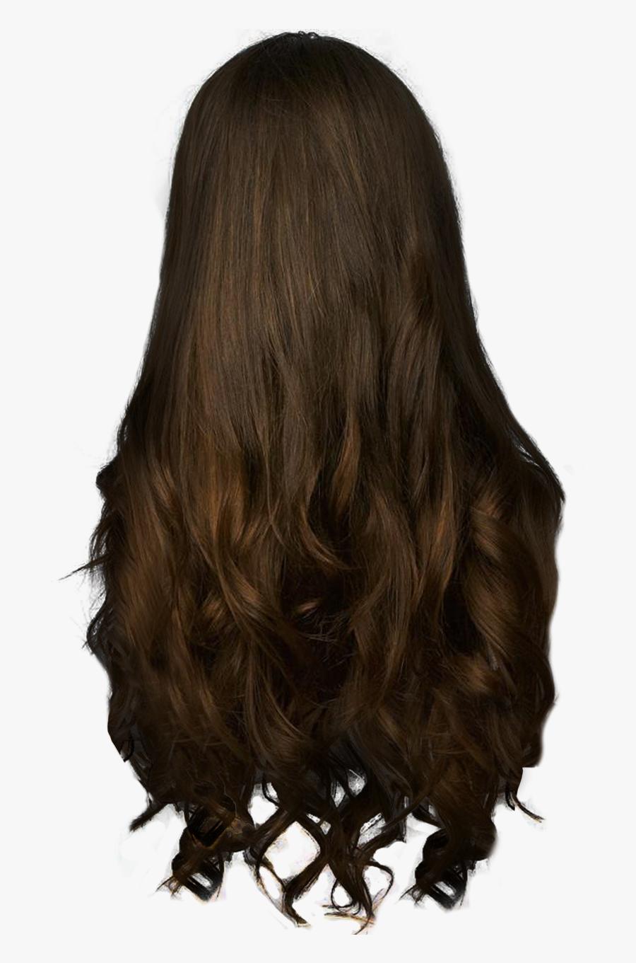 Long Brown Hair Clipart - Women Hair Back Png, Transparent Clipart