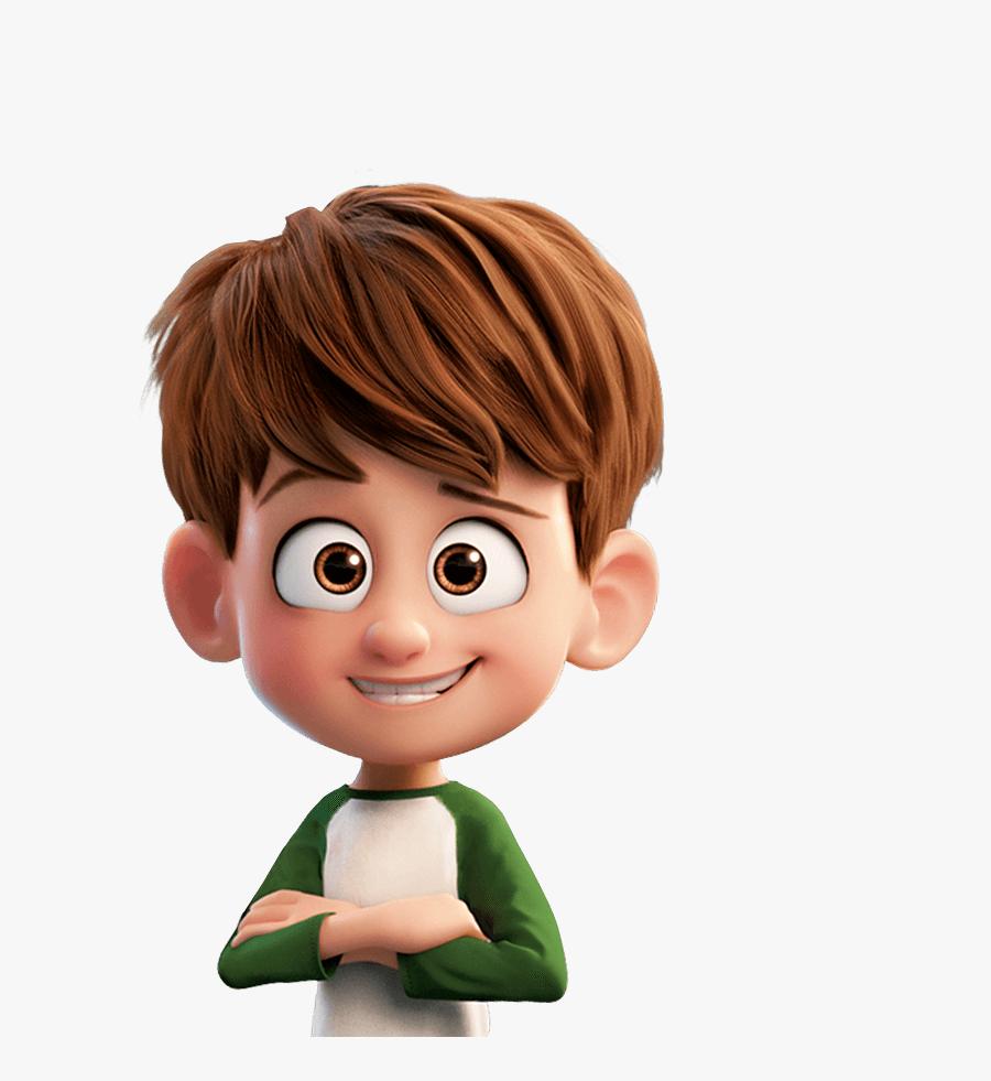 Brown Hair Cartoon Character Boy Cartoon Transparent Nate