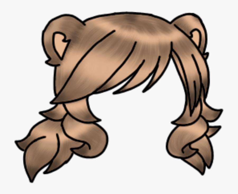 Detailed Gacha Hair - Gacha Life Brown Hair, Transparent Clipart