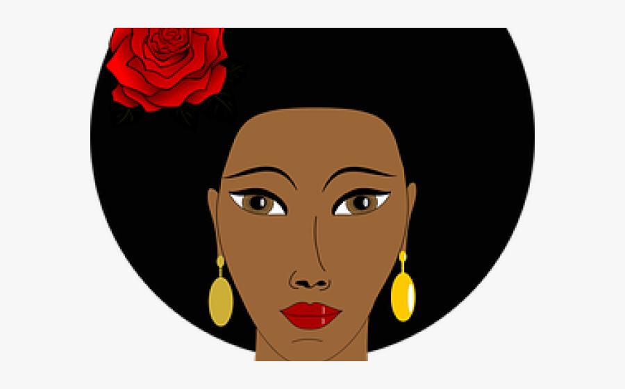 Dark Hair Clipart Black Mother - Black Woman's Face Clipart, Transparent Clipart