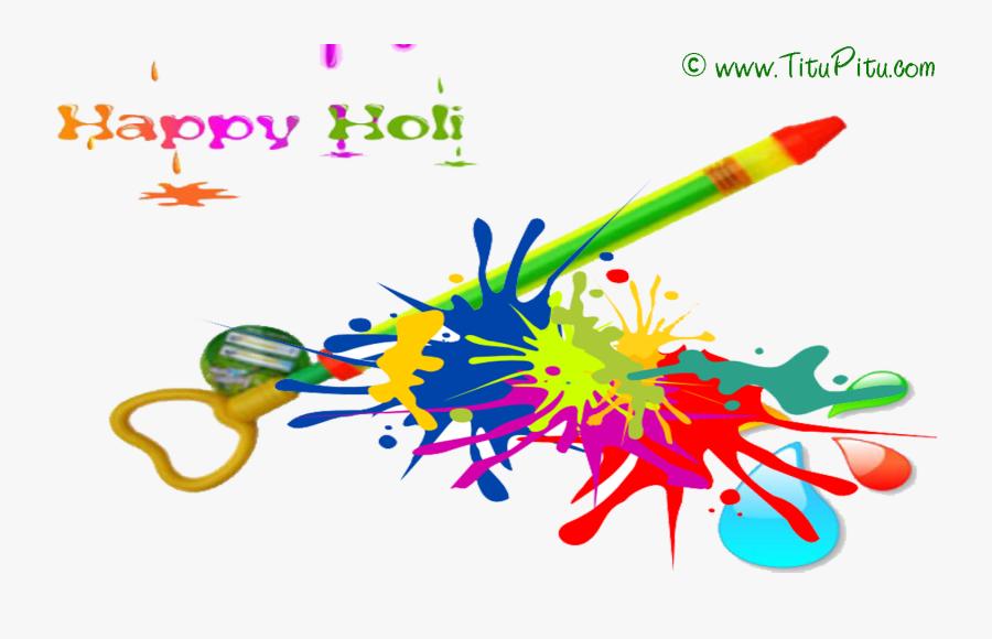 Holi Pichkari Free Download Png - Happy Holi Pichkari Png, Transparent Clipart