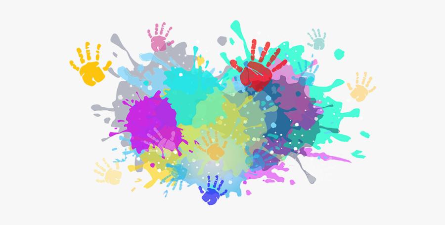 Colorful Colors Color Powder - Holi Color Splash Png, Transparent Clipart