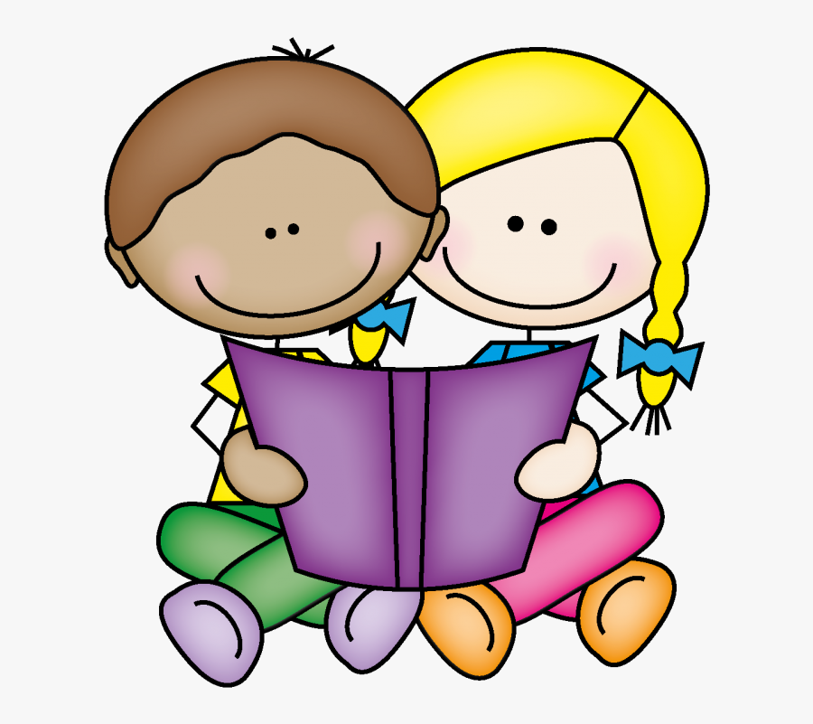 Clipart Child Book - Buddy Reading Clipart, Transparent Clipart