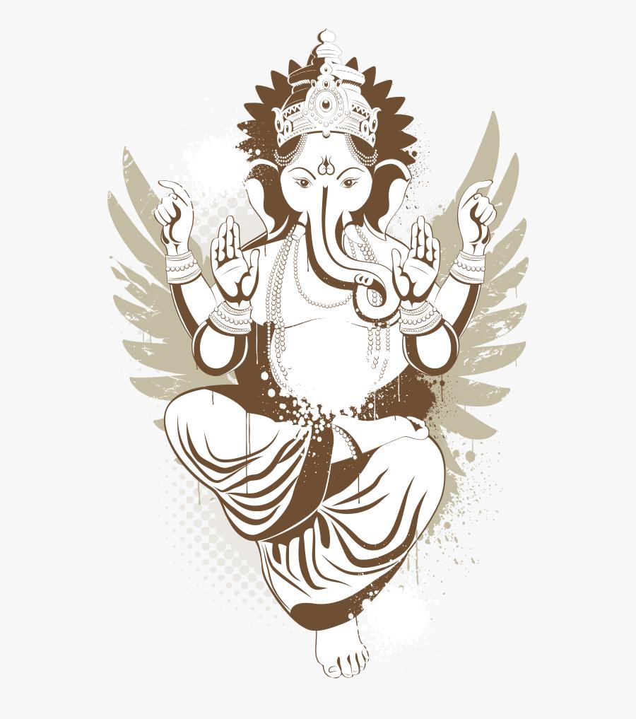 Shiva Ganesha Tattoo Deity , Ganpati Bappa Images Vector