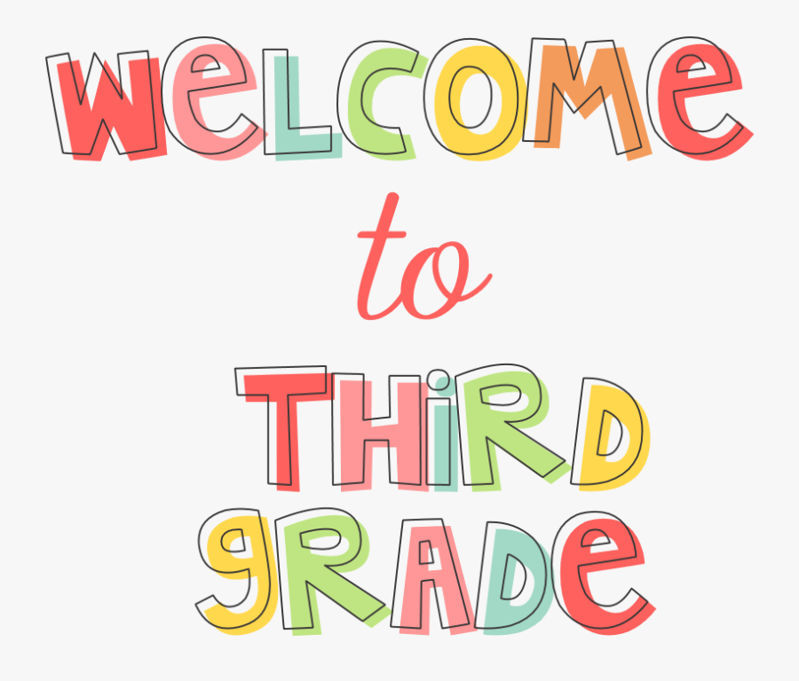Welcome To 3rd Grade - Graphic Design , Free Transparent Clipart -  ClipartKey