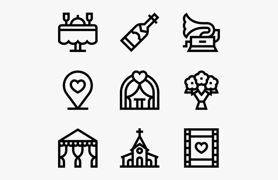 Wedding - Change Management Icons, Transparent Clipart