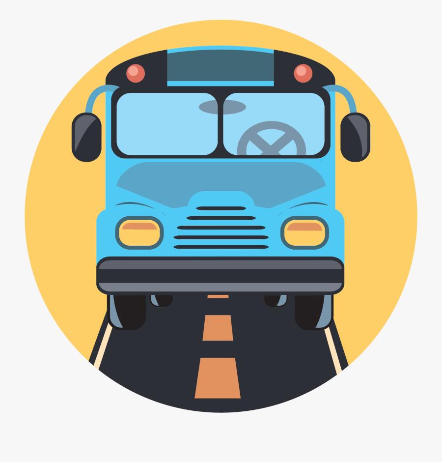Motor Vehicle,transport,school Bus,vehicle,bus,mode - Bus Icon Clipart Png, Transparent Clipart