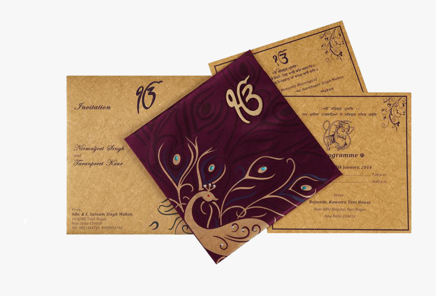Punjabi Indian Wedding Invitation Cards Punjabi Wedding Cards Design Free Transparent Clipart Clipartkey