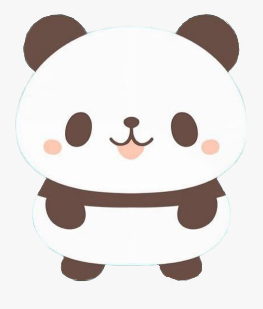 #cute #panda #cartoon #kwaii #draw #drawing #art #black - Cute Panda Cartoon Drawing, Transparent Clipart