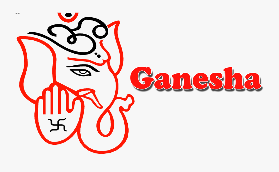 Simple Ganesh Drawing Easy, Transparent Clipart