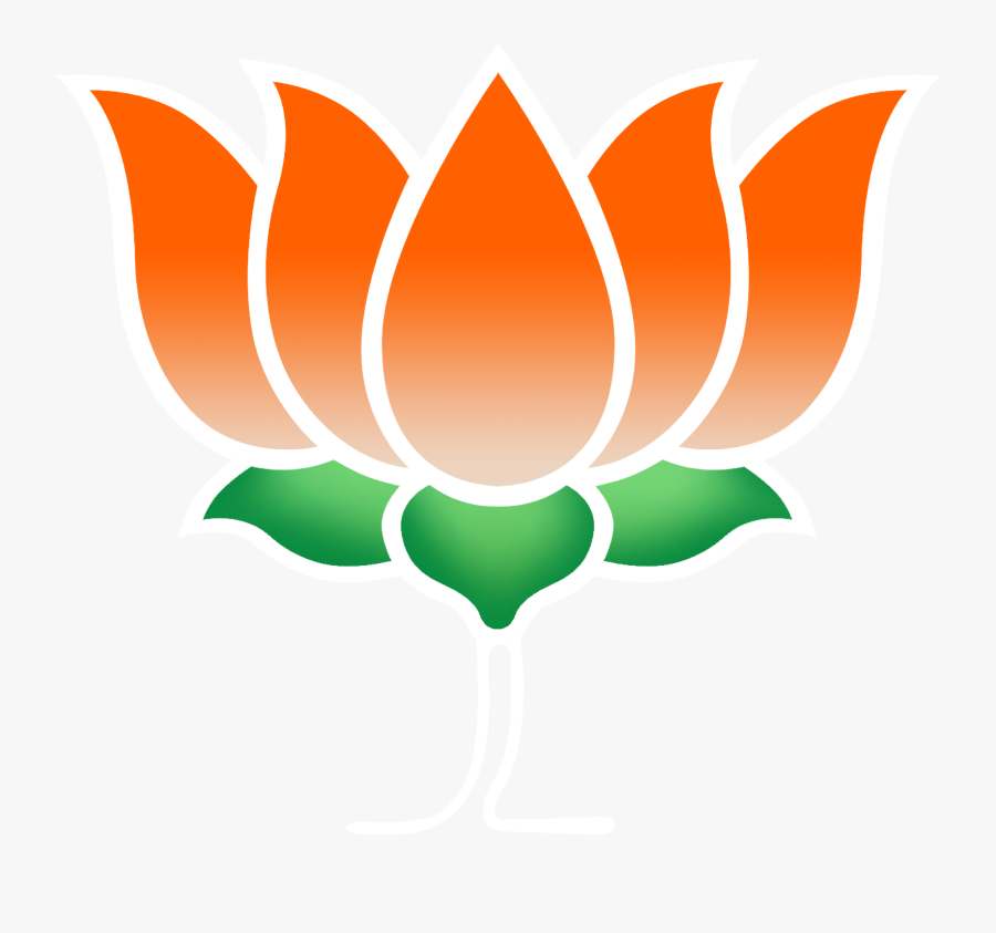 Amazing Bjp Logo Clipart Illustration - Bharatiya Janata Party In Hindi, Transparent Clipart