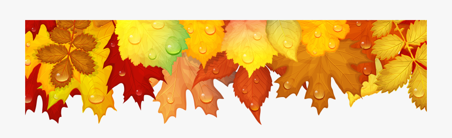 Transparent Fall Leaves Background Clipart - Fall Leaf Border, Transparent Clipart