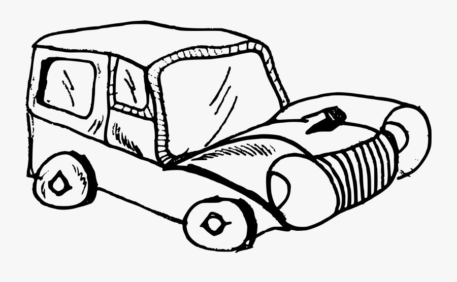 Classic Car Sports Car Vintage Car Drawing Cc0 - Old Car Cartoon Black And White, Transparent Clipart